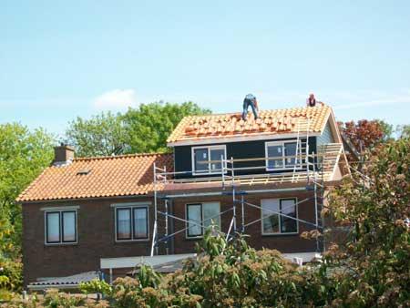 Dakrenovatie Blauw - Nieuwe dakopbouw